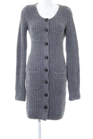 Sisley Gilet long tricoté gris style décontracté
