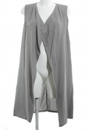 Sisley Long Knitted Vest grey casual look