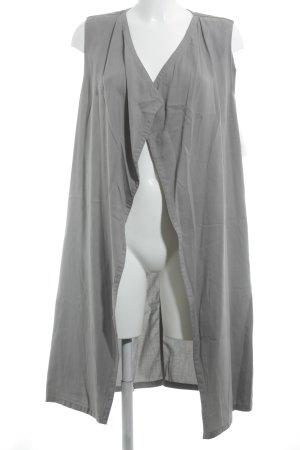 Sisley Lang gebreid vest grijs casual uitstraling