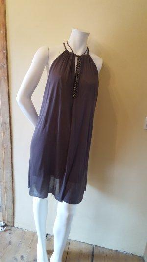 Sisley Robe Babydoll gris lilas coton