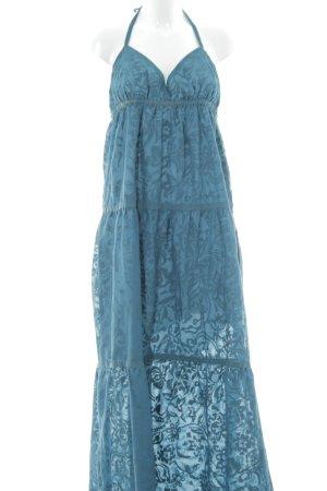 Sisley Maxikleid kadettblau-graublau abstraktes Muster Casual-Look