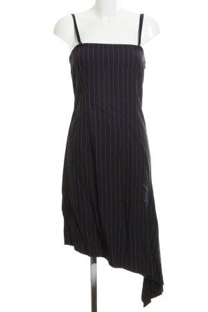 Sisley Midikleid schwarz Streifenmuster Casual-Look