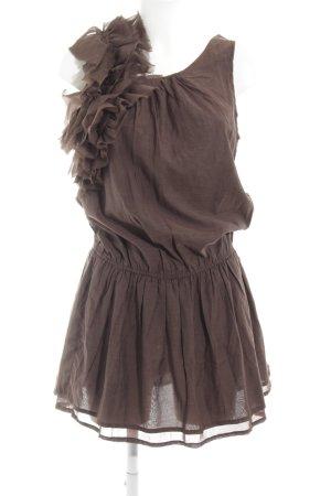 Sisley Minikleid dunkelbraun Casual-Look