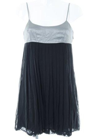 Sisley Minikleid silberfarben-schwarz Elegant