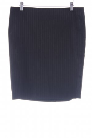 Sisley Minirock schwarz-hellgrau Nadelstreifen Business-Look
