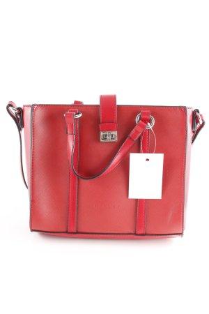 Sisley Minitasje rood-zilver casual uitstraling