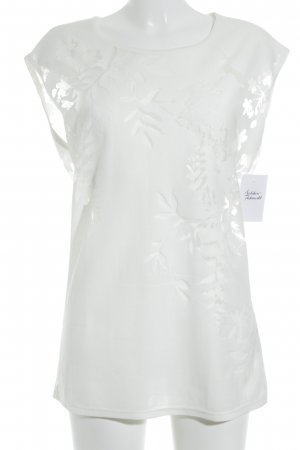 Sisley Muscle Shirt natural white floral pattern casual look