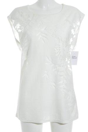 Sisley Débardeur marcel blanc cassé motif floral style décontracté