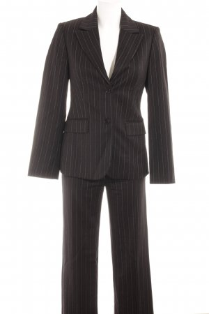 Sisley Pinstripe Suit black-white pinstripe business style