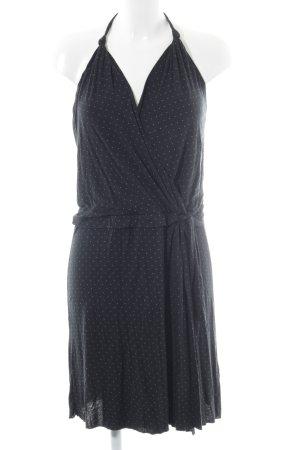 Sisley Neckholderkleid schwarz-weiß Punktemuster Urban-Look