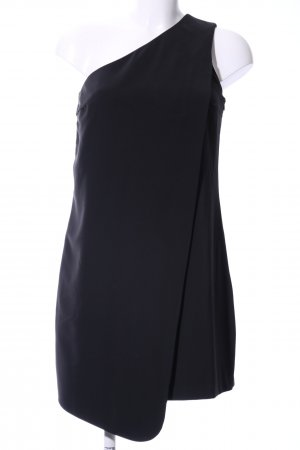 Sisley Vestido de un hombro negro elegante