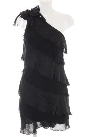 Sisley One-Shoulder-Kleid schwarz Casual-Look