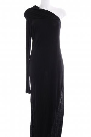 Sisley One Shoulder Dress black simple style