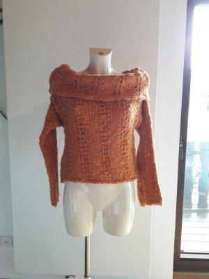 Sisley Coarse Knitted Sweater orange