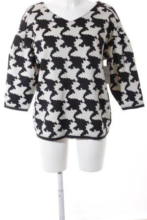 Sisley Oversized Shirt wollweiß-schwarz extravaganter Stil