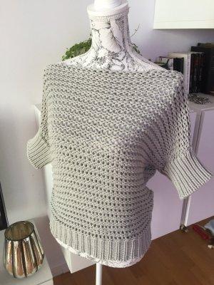 Sisley Pullover Strickpullover hellgrau Gr S