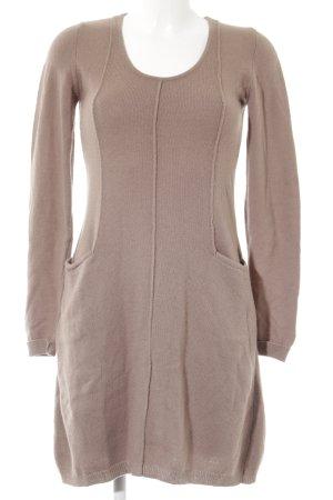 Sisley Sweater Dress camel casual look