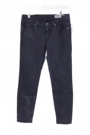 Sisley Röhrenjeans dunkelblau-grau abstraktes Muster
