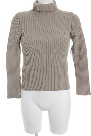 Sisley Rollkragenpullover beige Casual-Look