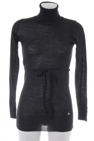 Sisley Rollkragenpullover schwarz Casual-Look
