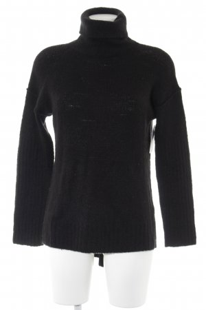 Sisley Turtleneck Sweater black casual look