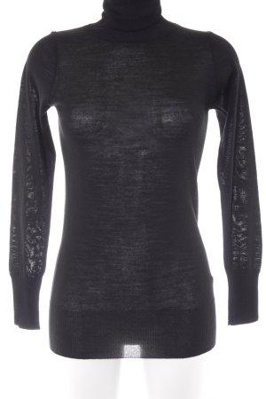 Sisley Rollkragenpullover schwarz Elegant
