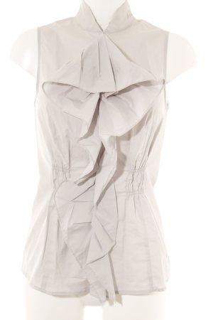 Sisley Rüschen-Bluse hellgrau Elegant