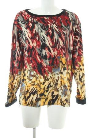 Sisley Rundhalspullover abstraktes Muster Casual-Look