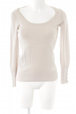 Sisley Rundhalspullover creme Casual-Look