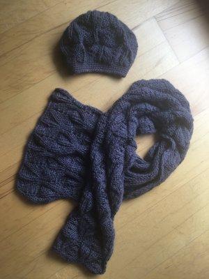 Sisley Chapeau en tricot gris ardoise