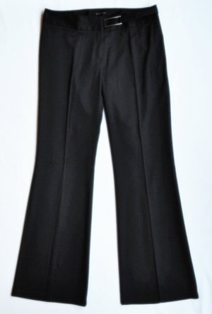Sisley Pantalón de campana negro tejido mezclado