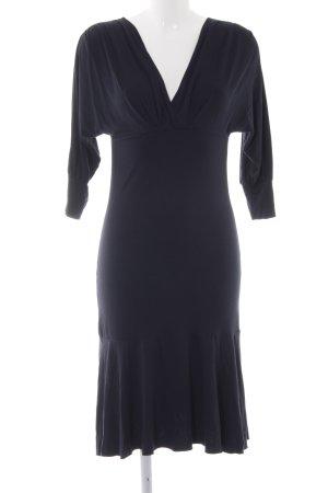 Sisley Vestido de tubo azul oscuro look casual