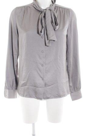 Sisley Blusa con lazo gris claro estilo «business»