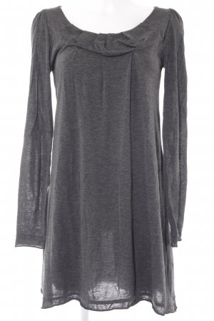 Sisley schulterfreies Kleid dunkelgrau-schwarz Elegant