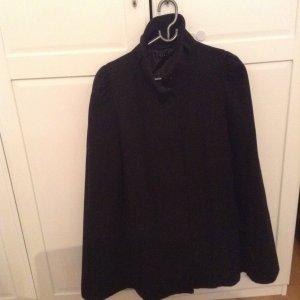Sisley schwarze Pelerine Mantel