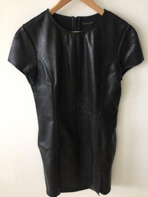 Sisley Schwarzes Kunstleder Kleid