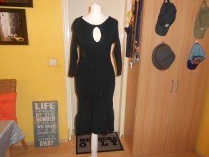 Sisley- schwarzes Rippenstrickkleid Gr. S