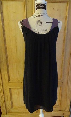 Sisley Tunic Dress black-mauve