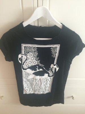Sisley Shirt mit Jugendstil flamingoprint
