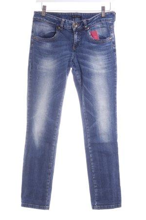Sisley Slim Jeans stahlblau-hellbeige Casual-Look