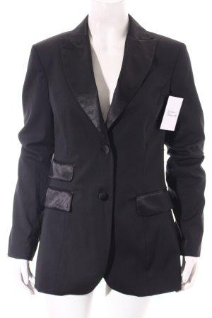 Sisley Blazer de esmoquin negro elegante