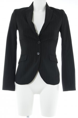 Sisley Blazer de esmoquin negro-gris raya diplomática estilo «business»