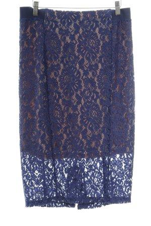 Sisley Spitzenrock blau-nude Spitzen-Optik