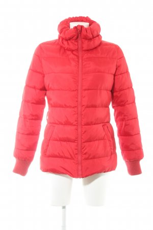 Sisley Veste matelassée rouge motif de courtepointe style décontracté