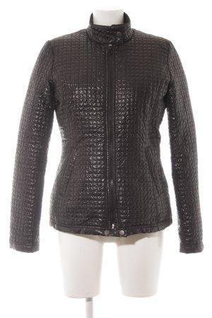 Sisley Veste matelassée noir motif de courtepointe style décontracté