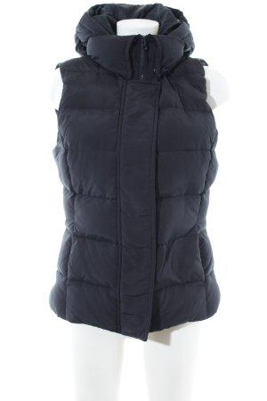 Sisley Gewatteerd vest zwart quilten patroon casual uitstraling