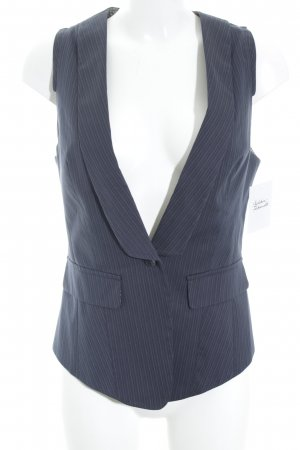 Sisley Steppweste dunkelblau Nadelstreifen Business-Look