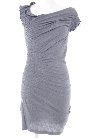 Sisley Stretchkleid dunkelblau-weiß Webmuster Street-Fashion-Look