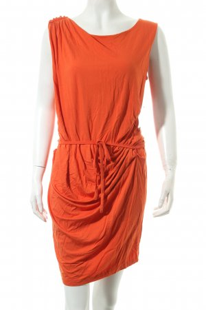 Sisley Stretchkleid orange schlichter Stil
