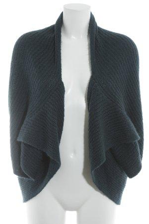 Sisley Boléro en tricot bleu pétrole style décontracté